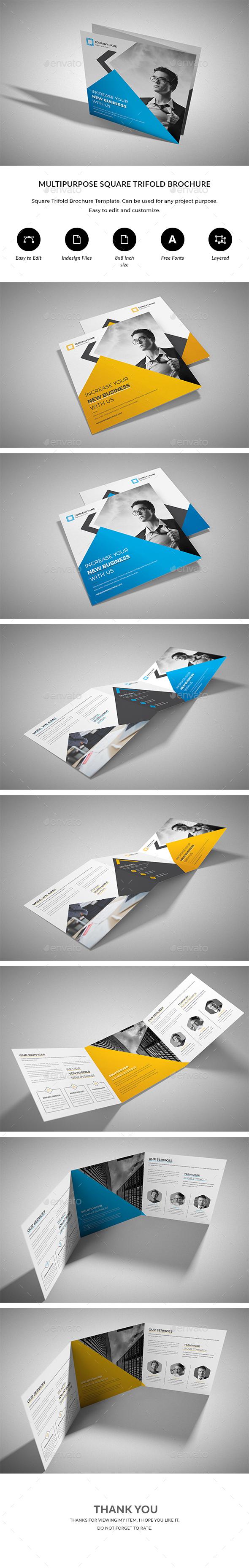 GraphicRiver Square Trifold Brochure 20881454