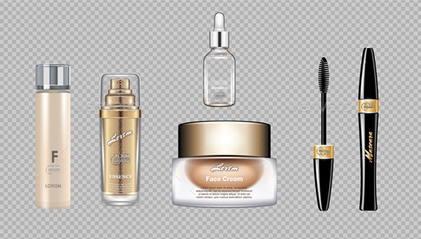 Vector Cosmetics Set - Man-made Objects Objects