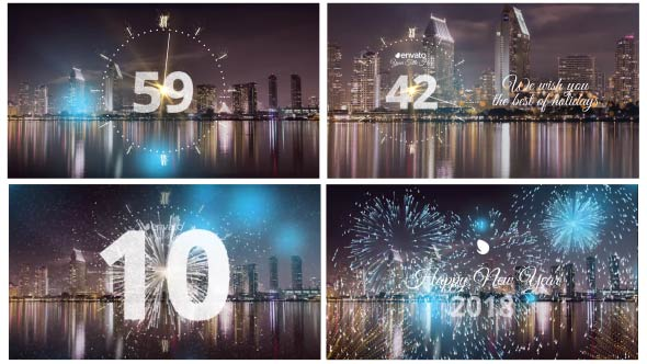 Videohive - Silver New Year Countdown 2018 20881545