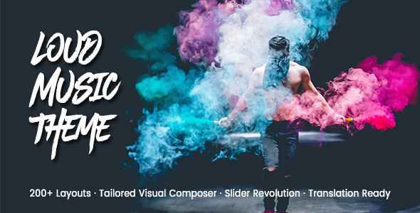 Image of Loud - A Modern WordPress Theme for the Music Industry