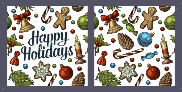 Seamless Pattern for Happy Holidays - Miscellaneous Seasons/Holidays