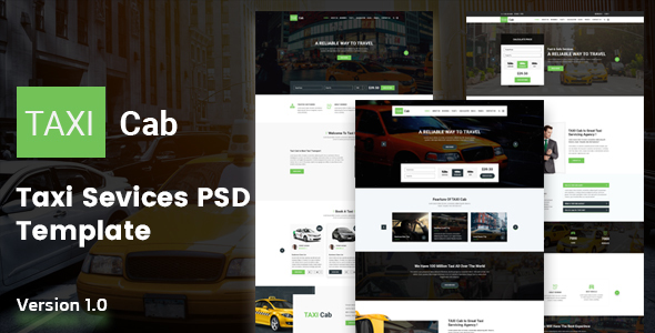 TAXI Cab PSD Template - Travel Retail