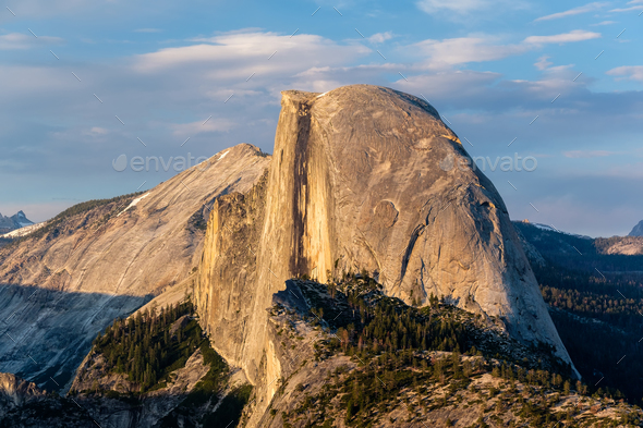 Half Dome rock formation in Yosemite National Park - Stock Photo - Images