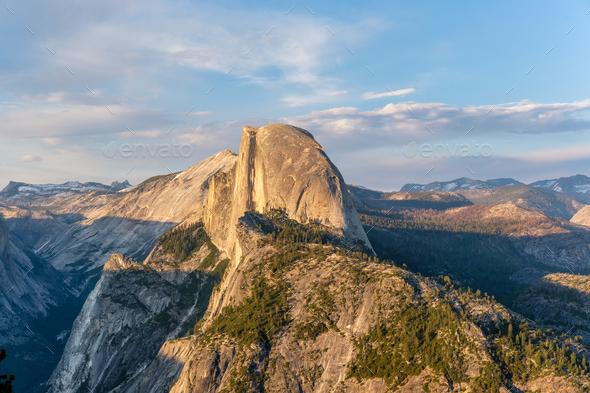 Yosemite National Park Valley summer landscape, Glacier Point - Stock Photo - Images