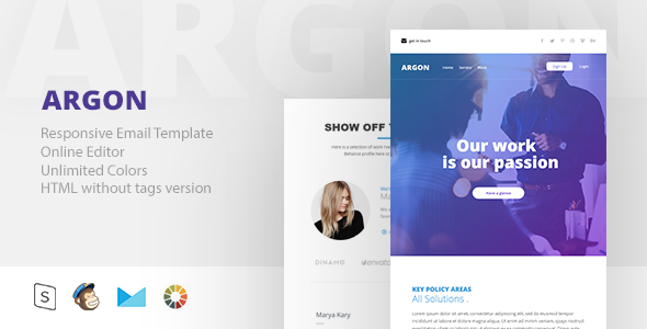 ARGON - Responsive Email + StampReady Builder - Email Templates Marketing