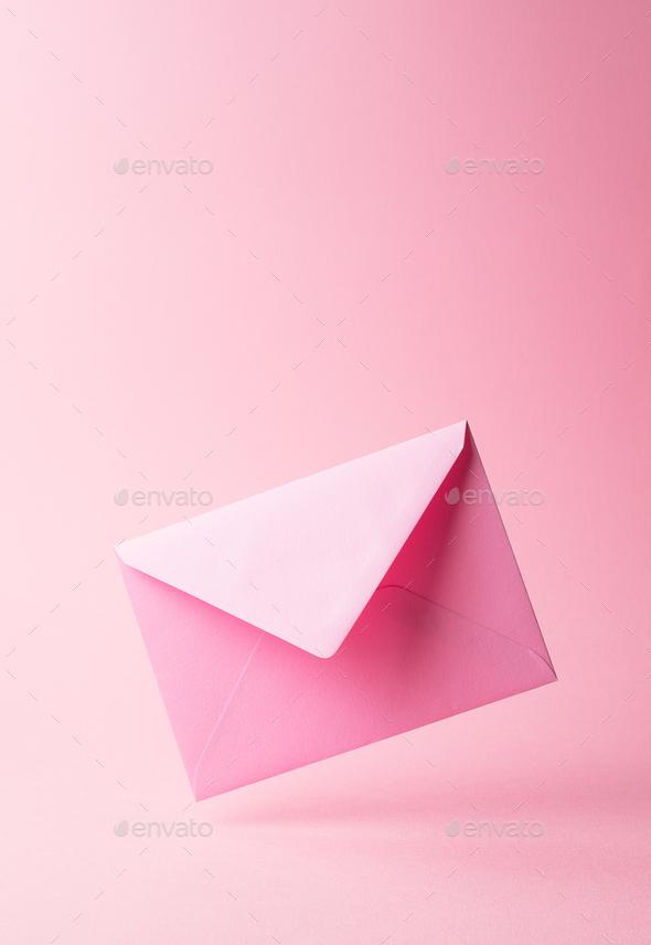 Pink envelope - Stock Photo - Images
