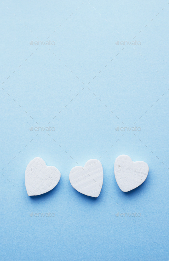 Wooden hearts - Stock Photo - Images