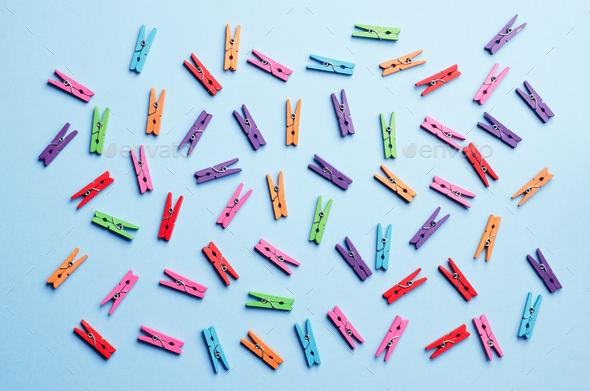 Mini Laundry Clips - Stock Photo - Images