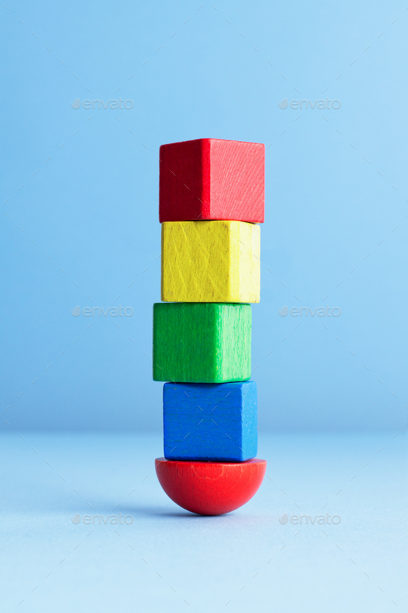 Wooden Cubes - Stock Photo - Images
