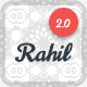 Rahil - Material Design One Page Template  (+30 Free Pattern &&  RTL Supported )