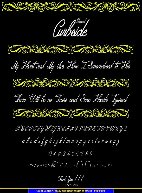 Curbside - Handwriting Fonts