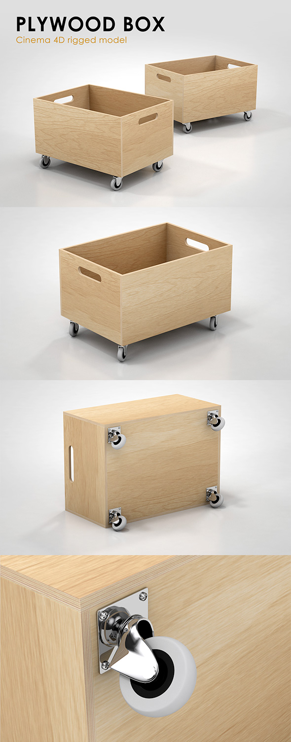 Plywood Box - 3DOcean Item for Sale