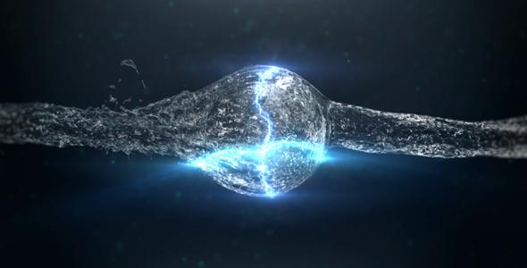 VideoHive Energy Water Sphere Logo Reveal 20882358