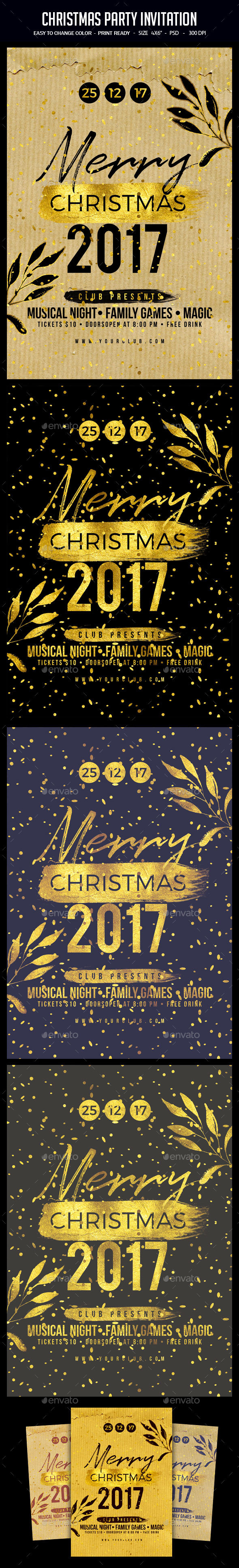 Christmas Party Invitation - Clubs & Parties Events