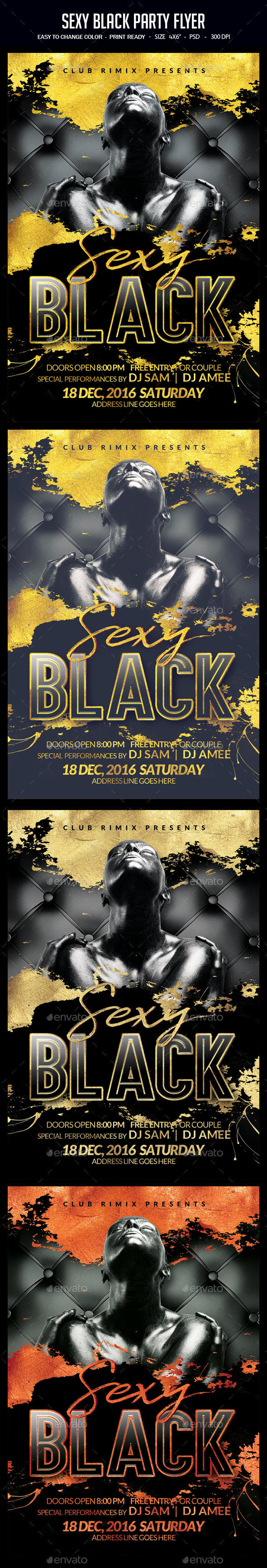 Sexy Black Party Flyer