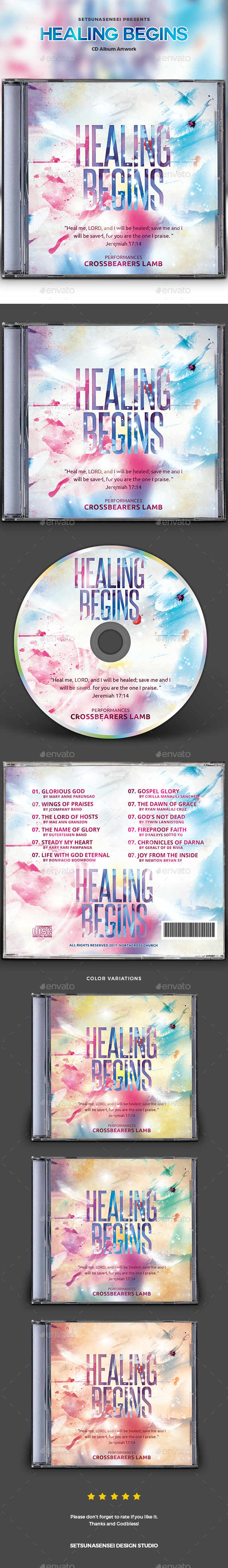 GraphicRiver Healing Begins CD Album Artwork 20882456