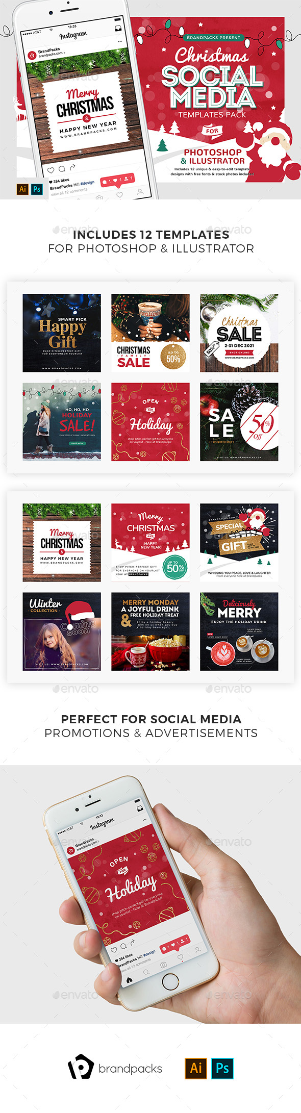 Christmas Social Media Templates - Miscellaneous Social Media