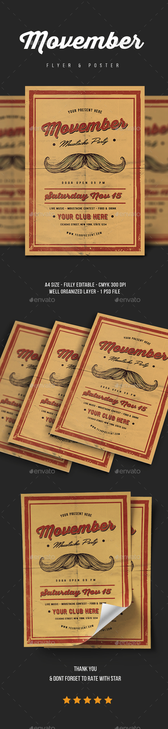 GraphicRiver Movember Flyer Vol.2 20882870