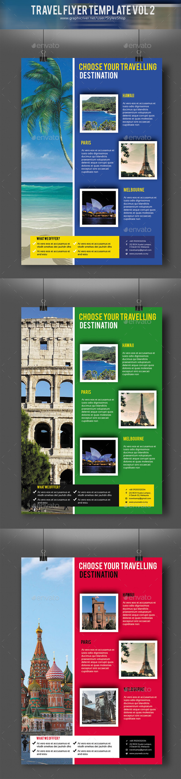 Travel Flyer Template Vol 2 - Holidays Events