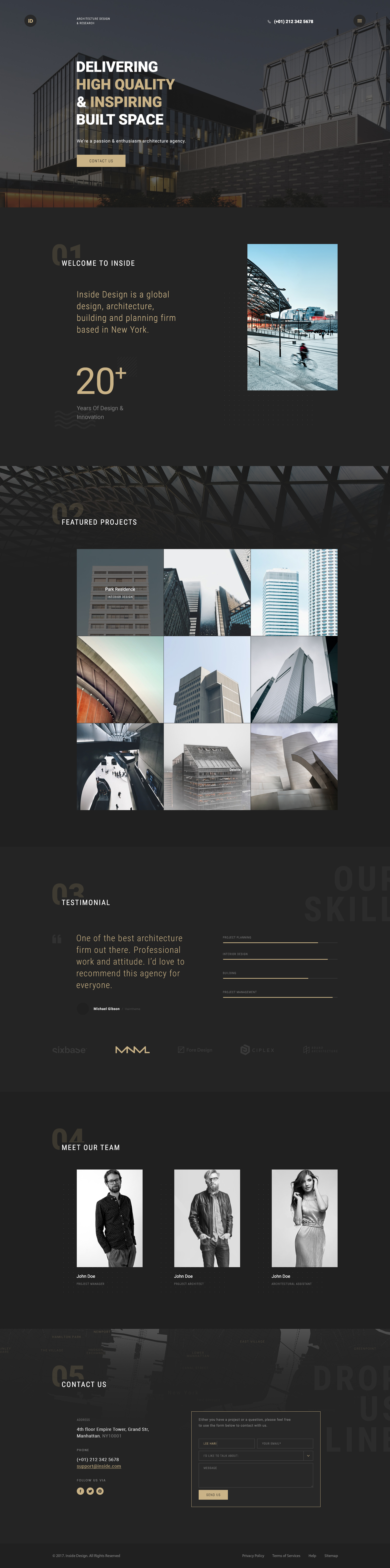 Inside - An Elegant Architecture PSD Template by leehari | ThemeForest