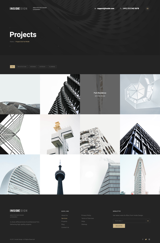 Inside - An Elegant Architecture PSD Template by leehari | ThemeForest