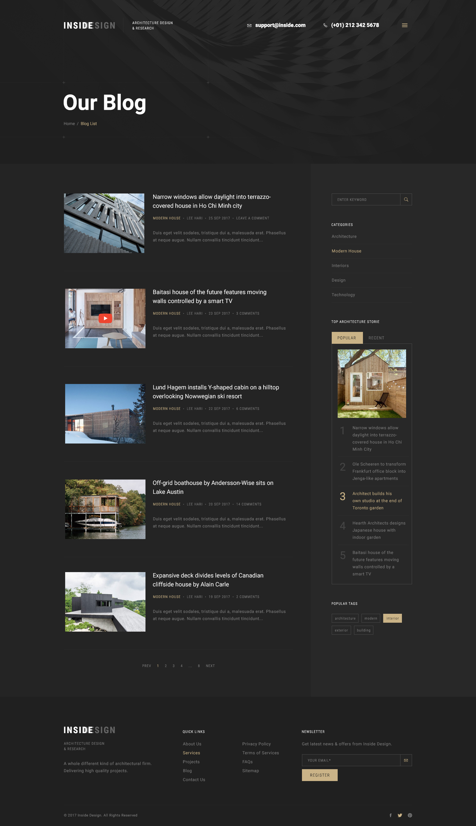 Inside an elegant architecture psd template by leehari themeforest inside an elegant architecture psd template sciox Choice Image