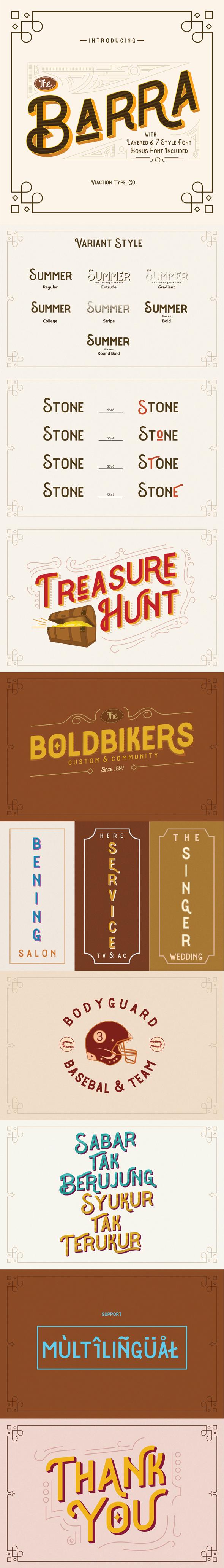 The Barra Typeface - Miscellaneous Sans-Serif