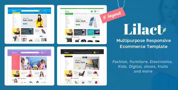 Lilac - Responsive Ecommerce Template - Shopping Retail