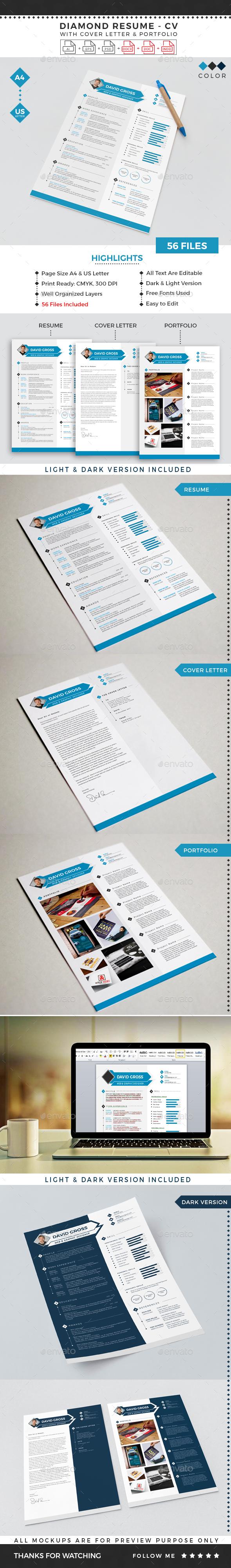 Diamond Resume CV Template