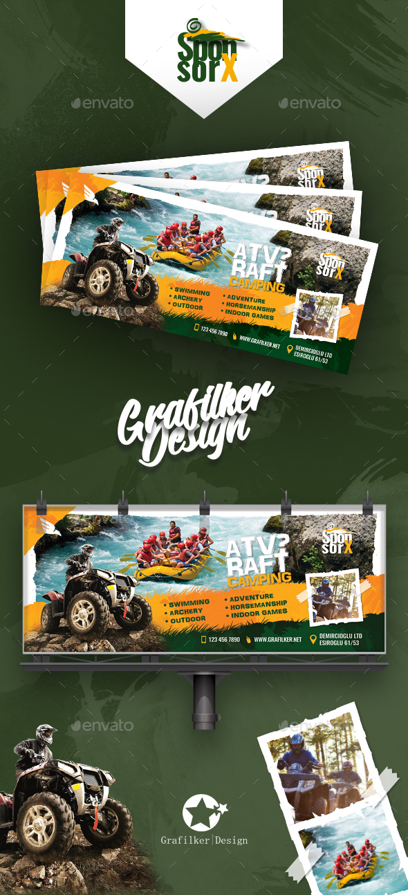 GraphicRiver Camping Adventure Billboard Templates 20883070