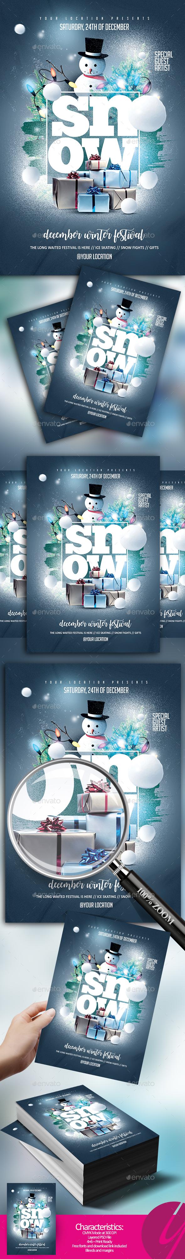 GraphicRiver Snow Festival 20883157