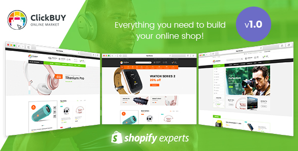 Download ClickBuy - Multi Store Responsive Shopify Theme            nulled nulled version