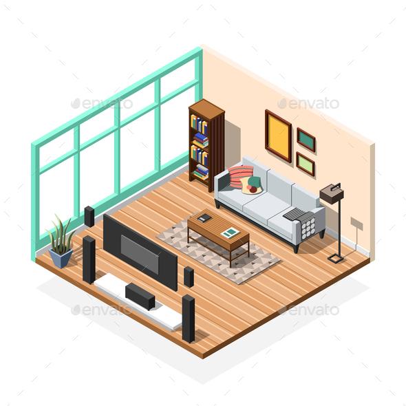 Sitting Room Apartment Interior - Miscellaneous Vectors