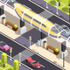 Futuristic Transport Isometric Background