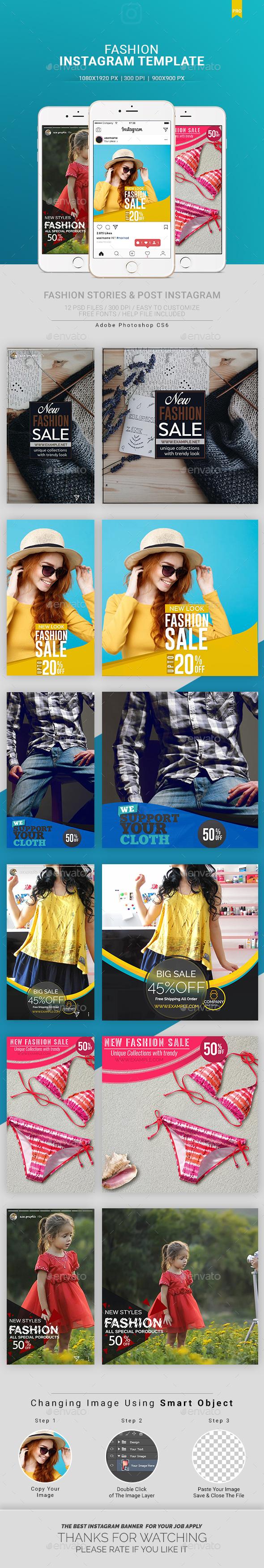 Instagram Banner - User Interfaces Web Elements