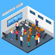 Robotics Club Isometric Composition