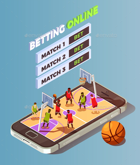 GraphicRiver Basketball Betting Online Concept 20883489