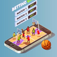 Basketball Betting Online Concept