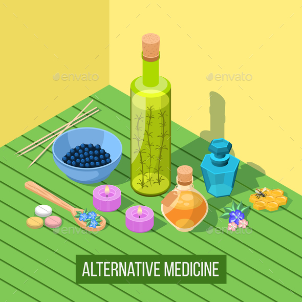 GraphicRiver Alternative Medicine Isometric Composition 20883542
