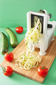 spiralizing courgette raw vegetable with spiralizer - PhotoDune Item for Sale