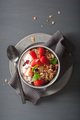 granola and yogurt with seeds and strawberry for breakfast - PhotoDune Item for Sale