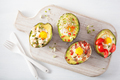 eggs baked in avocado with bacon, cheese, tomato and alfalfa spr - PhotoDune Item for Sale