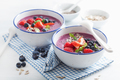 healthy berry smoothie bowl with strawberry blueberry raspberry - PhotoDune Item for Sale
