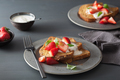french toasts with yogurt and strawberries for breakfast - PhotoDune Item for Sale