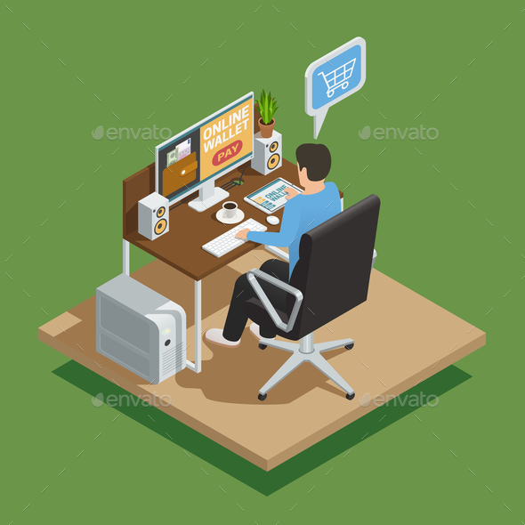 GraphicRiver Payment Methods E-Commerce Isometric Composition 20883553