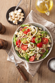 spiralized courgette salad greek style with tomato feta olives c - PhotoDune Item for Sale