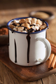s'mores hot chocolate mini marshmallows cinnamon winter drink - PhotoDune Item for Sale