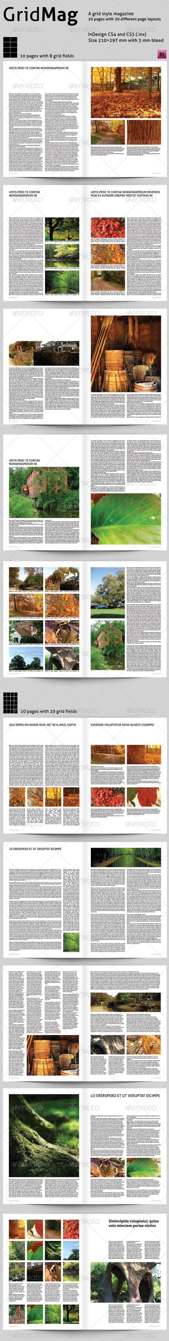 Grid Mag - A Grid Style Magazine - Magazines Print Templates