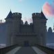 The Road to the Castle at Sunset - VideoHive Item for Sale