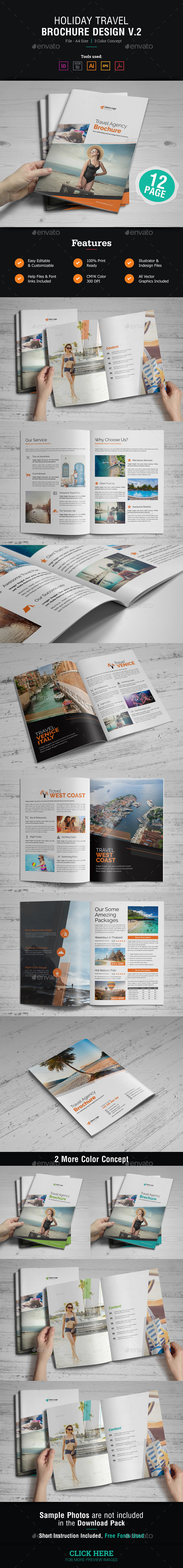 Holiday Travel Brochure Design v2 - Corporate Brochures